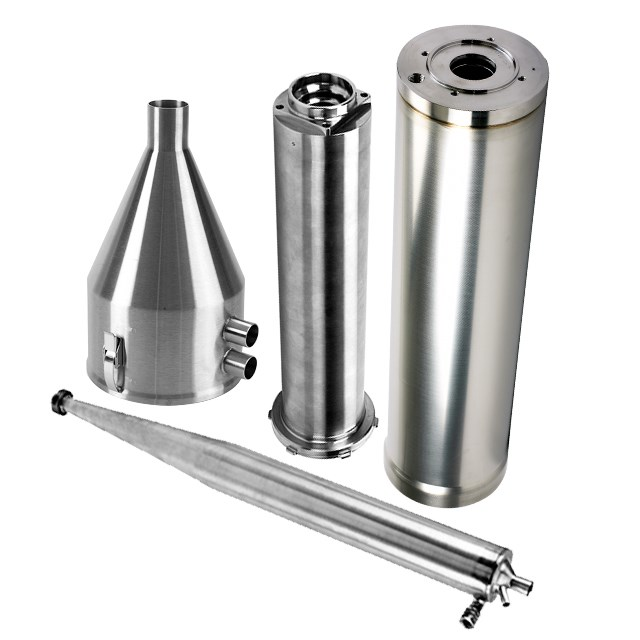 Image of various food processing parts